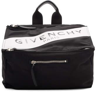 Givenchy Black Band Logo Pandora Messenger Bag
