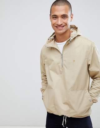 Farah Colborne overhead hooded jacket in sand