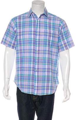 Burberry Vintage Button-Up Plaid Shirt