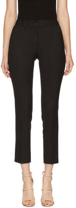 Dolce and Gabbana Black Slim Cropped Trousers
