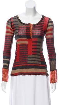 Jean Paul Gaultier Printed Long Sleeve Sweater
