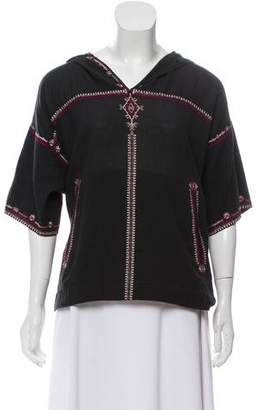 Etoile Isabel Marant Hooded Embroidered Top w/ Tags