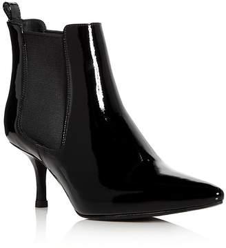 Anine Bing Women's Stevie Patent Leather Kitten Heel Booties