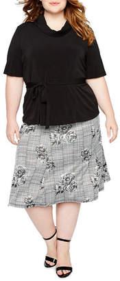 Perceptions Two-Piece Skirt Set - Plus