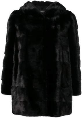 Simonetta Ravizza mink fur hooded jacket