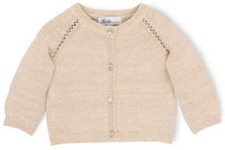 Bebe NEW Claire lurex cardigan Gold