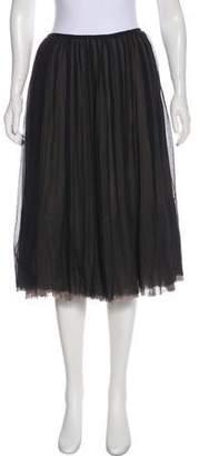 Martin Grant Pleated Knee-Length Skirt