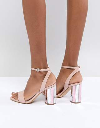 Aldo Two Part Ankle Strap Going Out Show With Mirror Heel