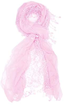 Violet Del Mar Embroidered Ruffle Scarf