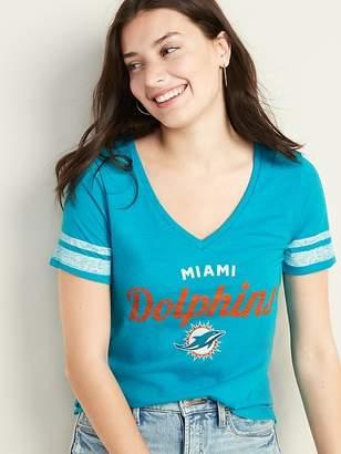 Old Navy NFL® Team Sleeve-Stripe V-Neck Tee for Women