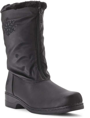 totes Black Staride Snowflake Winter Boots