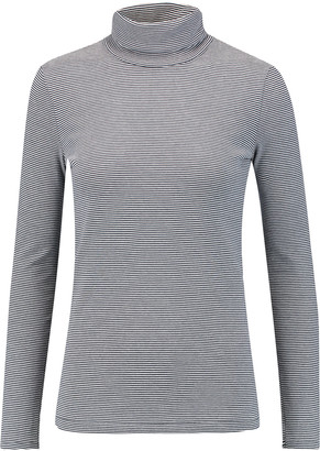 Petit Bateau Miller striped cotton-jersey turtleneck top $59 thestylecure.com