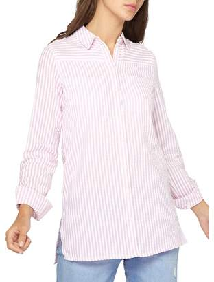 Dorothy Perkins Tall Pink Seersucker Striped Shirt