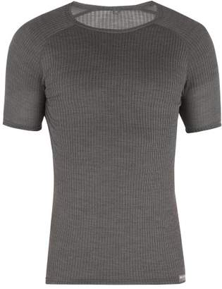Café Du Cycliste - Gabrielle Wool And Silk Blend T Shirt - Mens - Grey