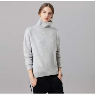 Amanda Wakeley Kloss Grey Cashmere Polo Neck Jumper