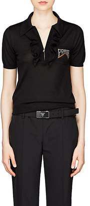 Prada Women's Wool-Cashmere Polo Shirt