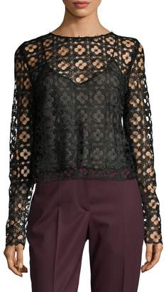 Oscar de la Renta Women's Cami Lace Blouse