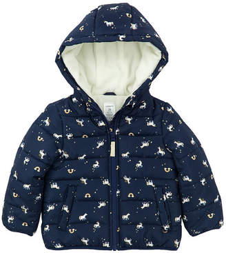 Carter's Midweight Pattern Puffer Jacket - Girls-Baby