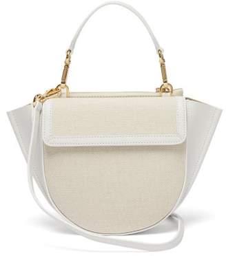 Wandler Hortensia Mini Leather Trimmed Cross Body Bag - Womens - White