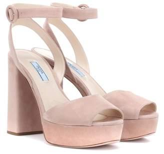 8010c37f00a5 Prada Suede Women s Sandals - ShopStyle