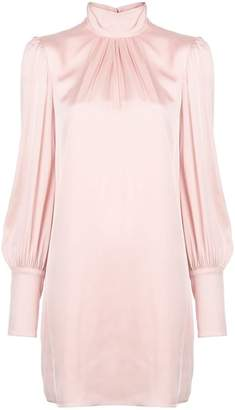 Milly long-sleeve flared dress