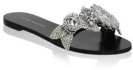 Sophia Webster Lilico Crystal-Embellished Leather Slides