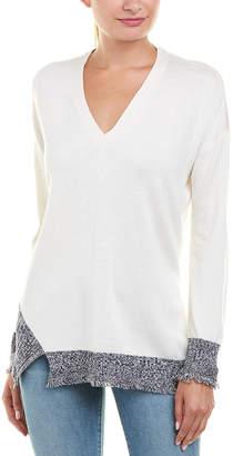 Derek Lam 10 Crosby Asymmetrical Hem Silk, Wool, & Cashmere-Blend Sweater
