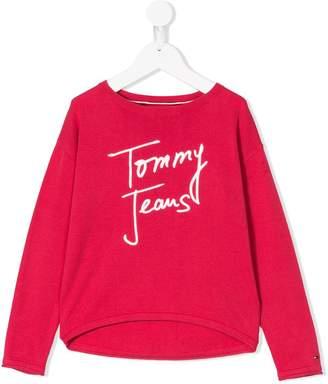 Tommy Hilfiger Junior logo embroidered sweater