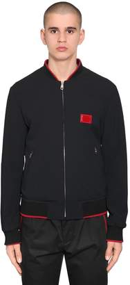 Dolce & Gabbana Tech Viscose Blend Bomber Jacket