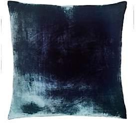Kevin OBrien Kevin O'Brien Ombré Velvet Pillow-Gray