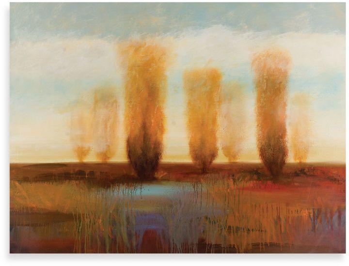 "Bed Bath & BeyondStarlie Sokol-Hohne ""Along the River I"" Canvas Art"