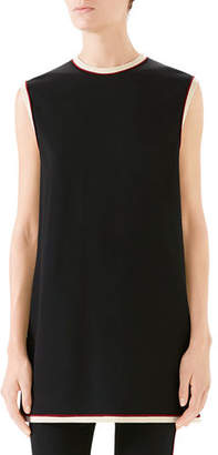 59aceb2e Gucci Sleeveless Crewneck Cady-Stretch Tunic Top