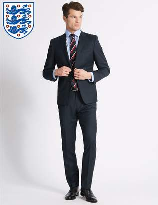 Marks and Spencer Navy Tailored Fit Wool Jacket