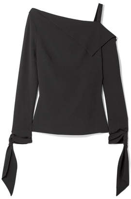 Roland Mouret Russell Draped One-shoulder Crepe Top - Black