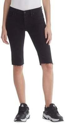 Hudson Jeans Fringed Knee-Length Shorts
