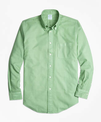 Brooks Brothers Regent Fit Garment-Dyed Textured Sport Shirt