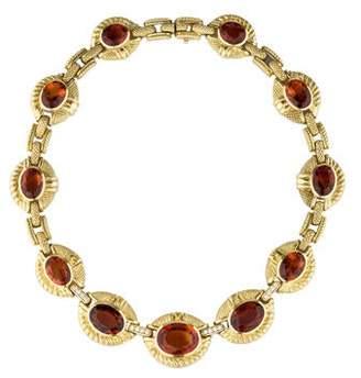 Judith Ripka Madiera Citrine & Diamond Collar