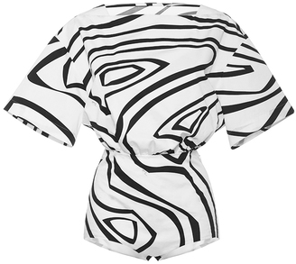 Emilio Pucci Short Sleeve Swirl Bodysuit $1,080 thestylecure.com