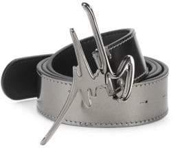 Giuseppe Zanotti Logo-Buckle Leather Belt