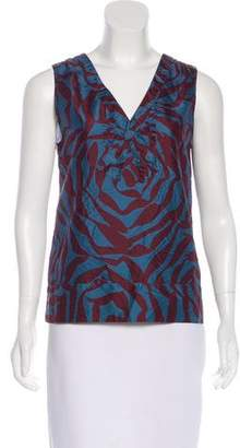 Marc Jacobs Sleeveless Printed Top