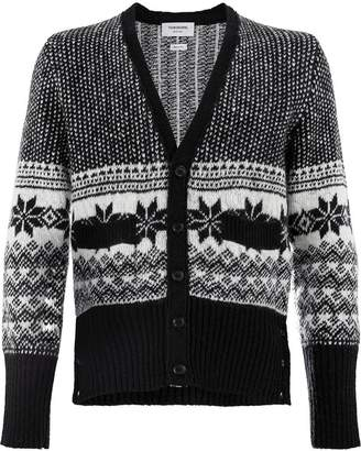 Thom Browne patterned knit cardigan