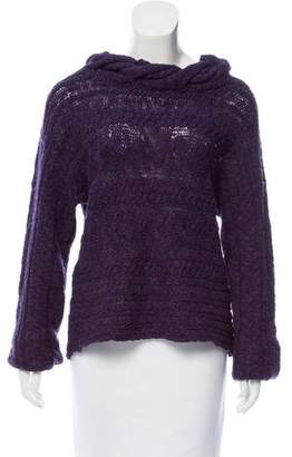 Magaschoni Cable Knit Wool-Blend Sweater