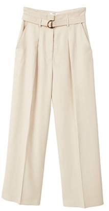 MANGO Buckle high-waist trousers