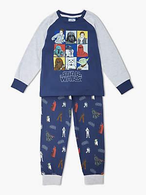 Star Wars Boys' Character Print Pyjamas, Navy