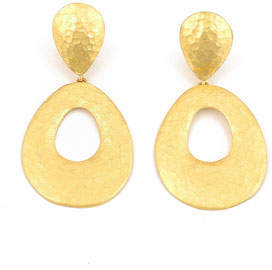 Yossi Harari Roxanne 24k Pear Drop Earrings