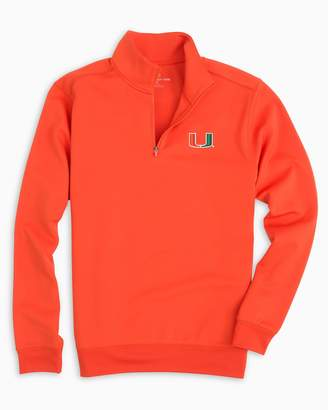 Southern Tide Gameday Performance 1/4 Zip Pullover - University of Miami