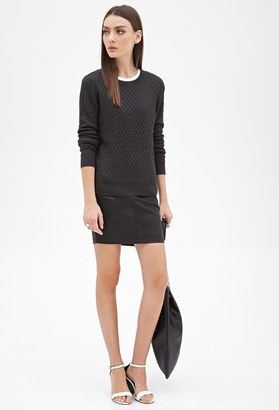 FOREVER 21+ Honeycomb-Quilted Sweater $19.80 thestylecure.com