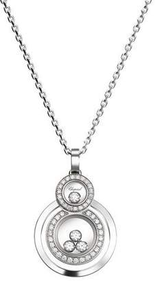 Chopard Happy Diamonds Stacked Circle Pendant Necklace in 18K White Gold