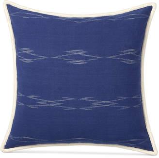 """Lauren Ralph Lauren Closeout! Luna Ikat 18"""" Square Decorative Pillow Bedding"""