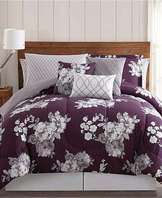 Pem America Peony Garden Floral 12-Pc. Queen Bed Ensemble Bedding